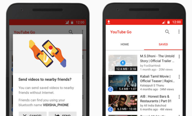 Google lancia YouTube Go, l'app per salvare i video offline su smartphone