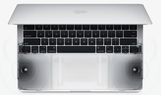 Apple MacBook Pro 2016 - Altoparlanti