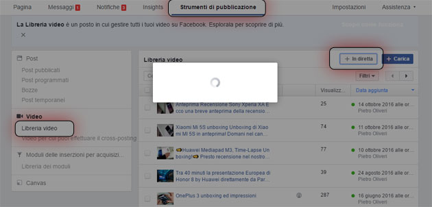 Facebook: come programmare un Live Video (1)