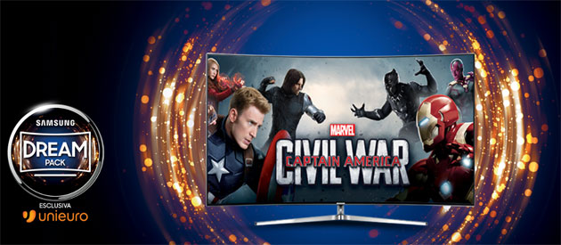 Samsung e Unieuro regalano il cinema Marvel