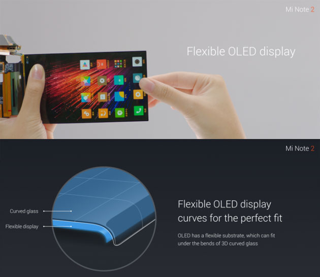 Xiaomi Mi Note 2 - display flessibile