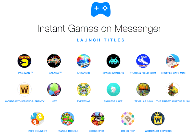 Instant Games in Messenger