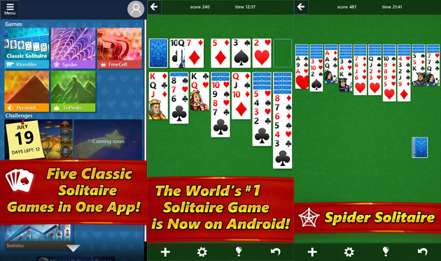 Microsoft Solitaire Collection sbarca su dispositivi Android e iOS