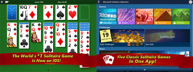 Microsoft Solitaire Collection per Apple iPad