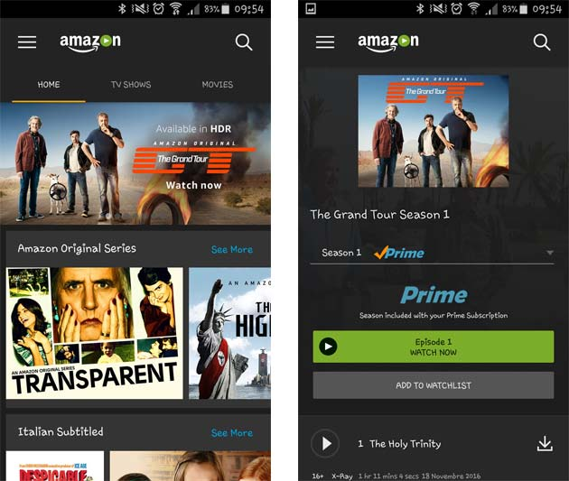 Amazon Prime Video - app Android