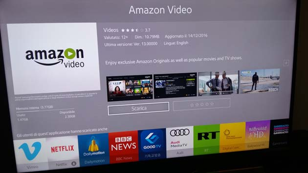 Amazon Prime Video - app Samsung TV