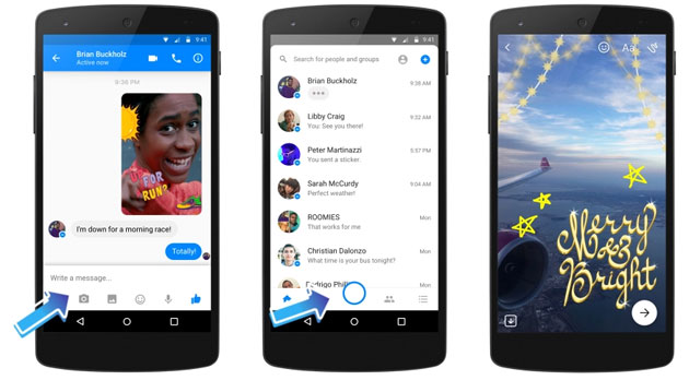 Facebook Messenger - Fotocamera nativa