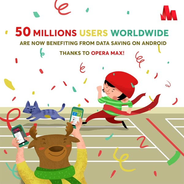 Opera Max 50 milioni di download