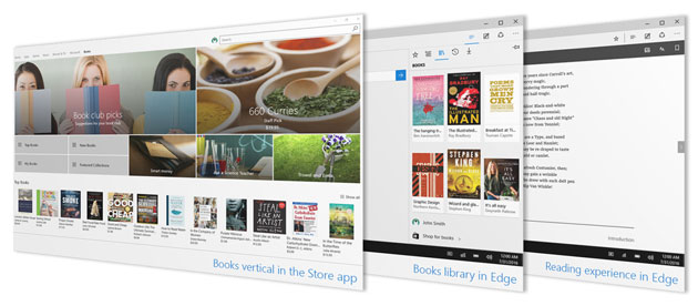 Windows 10, supporto ebook in Microsoft Edge