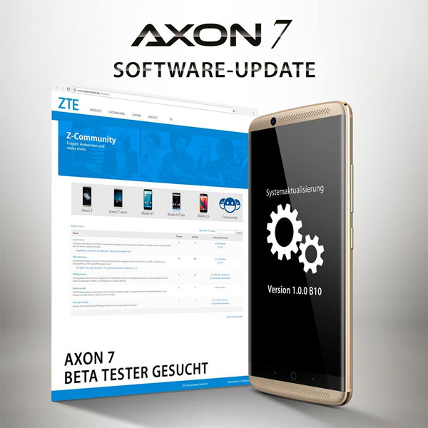 ZTE Axon 7- update Android 7 Nougat