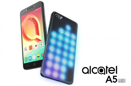 Alcatel A5 LED: back cover LED multicolore per notifiche sbarazzine