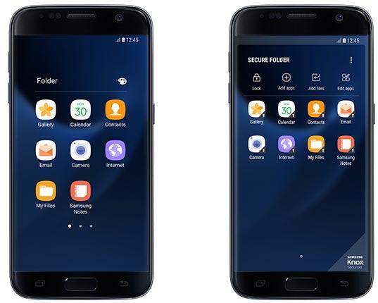 Samsung, Secure Folder arriva su Galaxy S7 e Galaxy S7 Edge