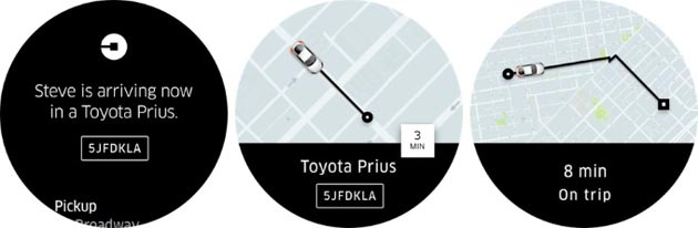 Uber su Android Wear 2.0