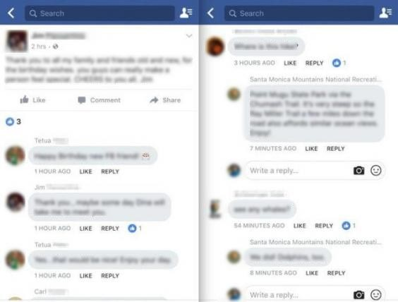 Facebook testa i commenti in stile chat 'Messenger'
