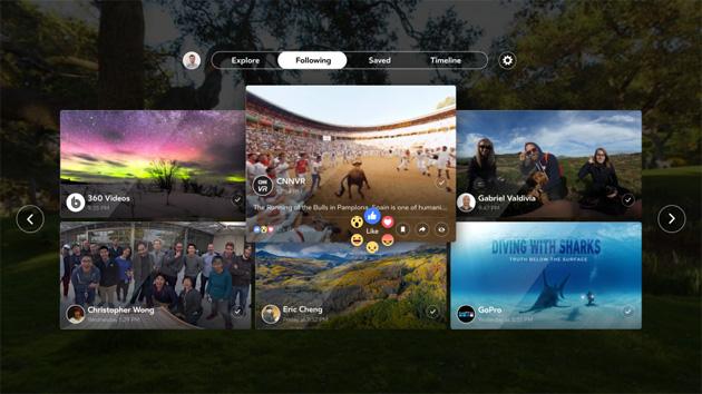 Facebook 360 app per Samsung Gear VR disponibile