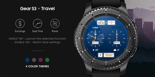 Gear S3 - Watchface Samsung Travel