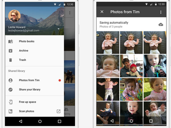Gogle Foto - Shared Libraries