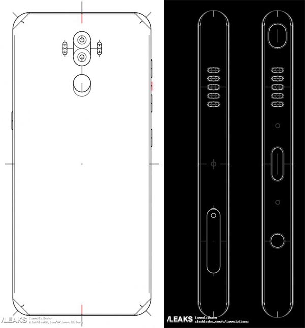 Galaxy Note 8 - schema di design del 12 giugno