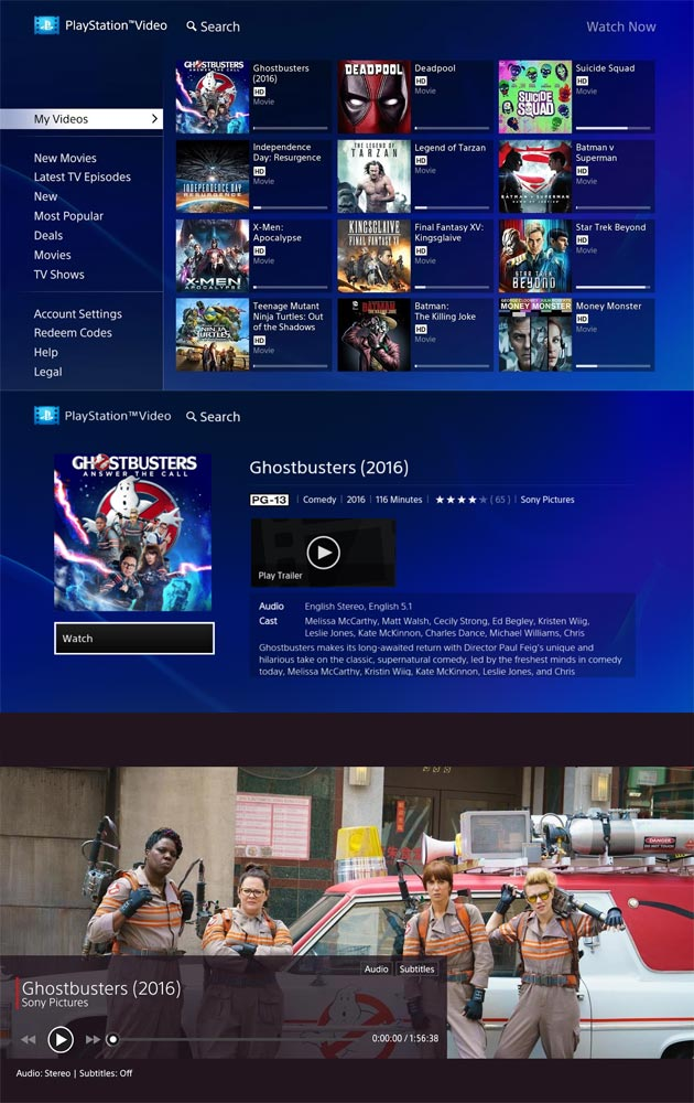 PlayStation Video su Android TV
