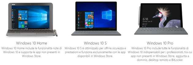 Windows 10 Home vs Windows 10 S vs Windows 10 Pro