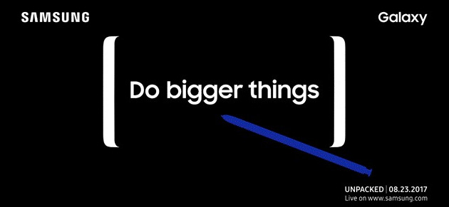 Samsung Galaxy Note 8 - Evento Unpacked il 23 Agosto 2017