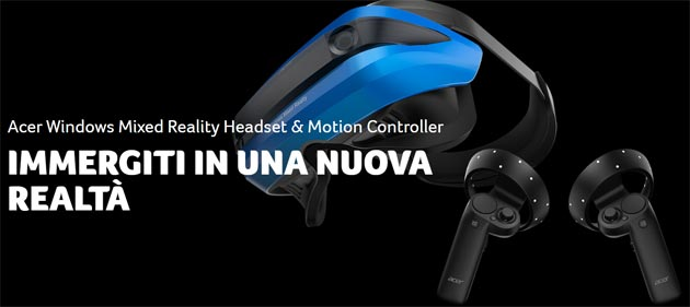 Acer Windows Mixed Reality Headset e Motion Controller