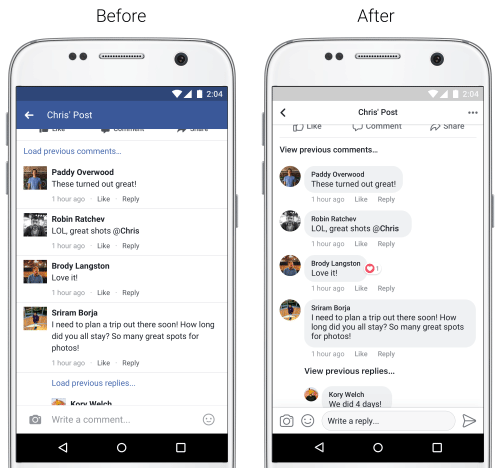 Facebook ridisegna il News Feed su mobile