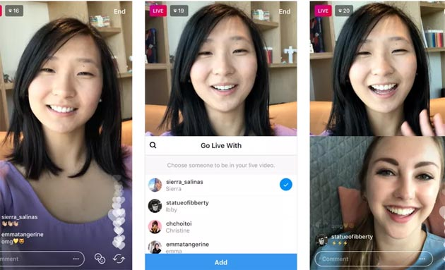 Instagram - anteprima Live Video Sharing