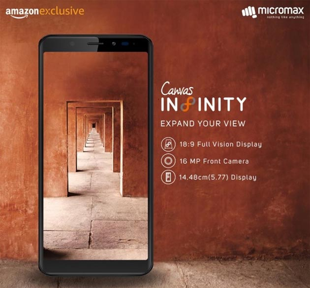 Micromax Canvas Infinity - Infinity Display
