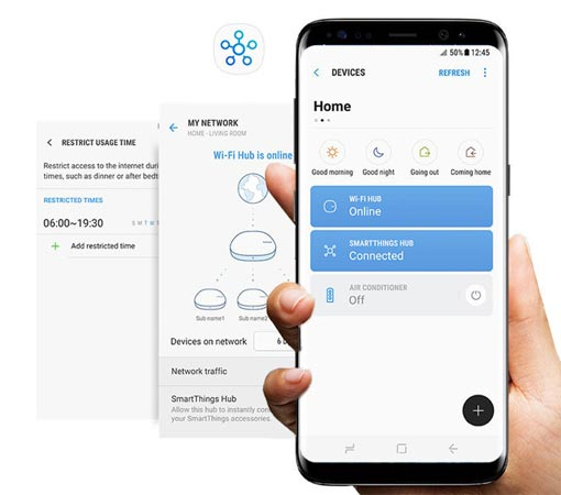Samsung Connect Home - app mobile