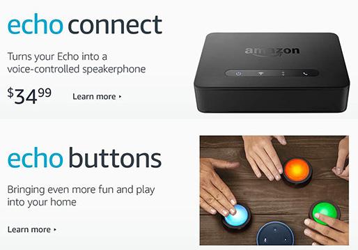 amazon echo 2017 echo plus connect buttons e fire tv. Black Bedroom Furniture Sets. Home Design Ideas