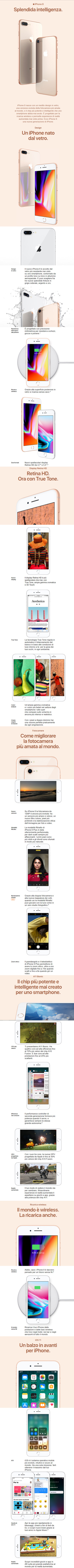 Apple iPhone 8 e Apple iPhone 8 Plus - Infografica