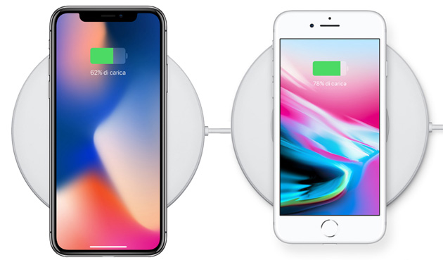 iPhone X e iPhone 8 - la ricarica wireless Qi