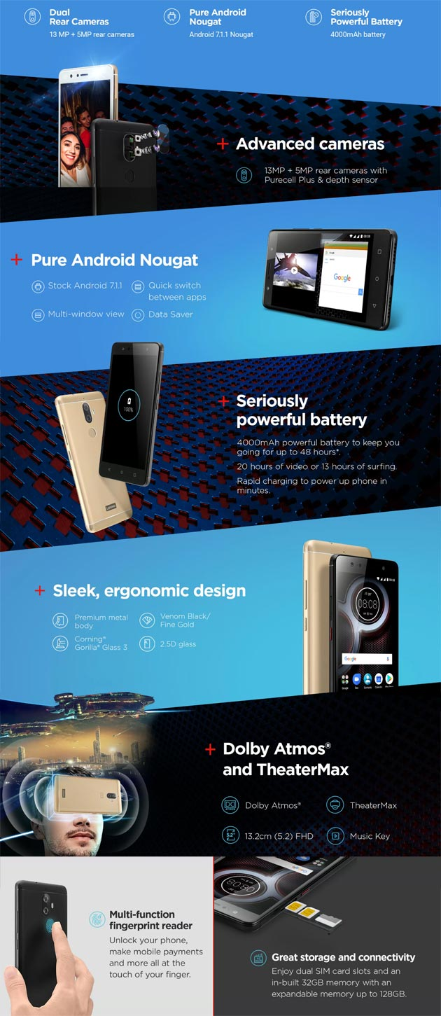 Lenovo K8 Plus - Infografica specifiche