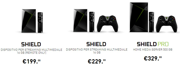 Nvidia Shield TV con Android TV - offerte