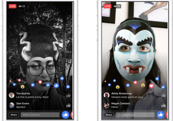 Facebook introduce nuovi filtri per spaventare gli amici