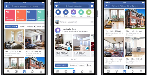 Annunci immobiliari in Facebook Marketplace