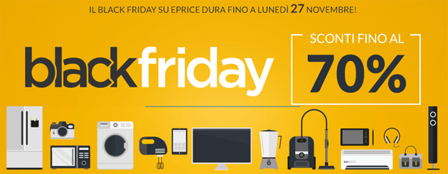 Black Friday 2017 da ePrice