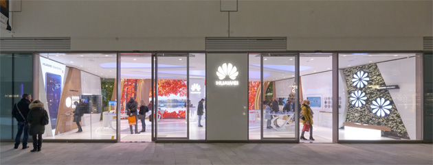 Esterno del Flagship store Huawei al CityLife Business e Shopping District a Milano