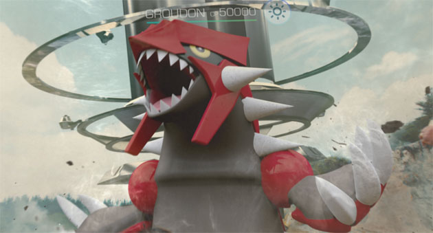 Groudon in Pokemon GO