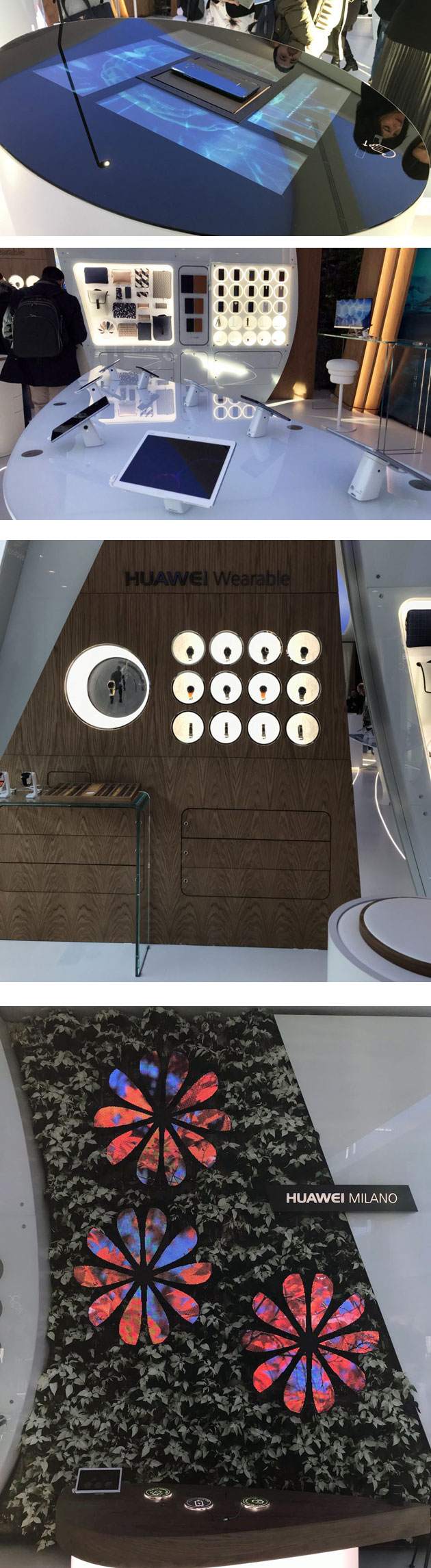 Interno del Flagship store Huawei al CityLife Business e Shopping District a Milano