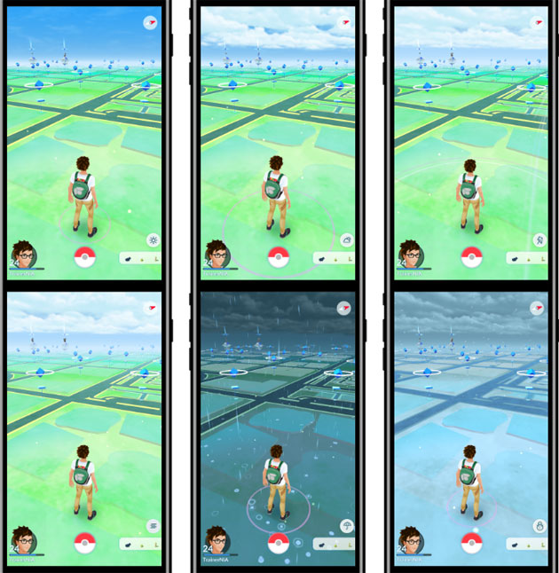 Pokemon GO - il meteo in-game