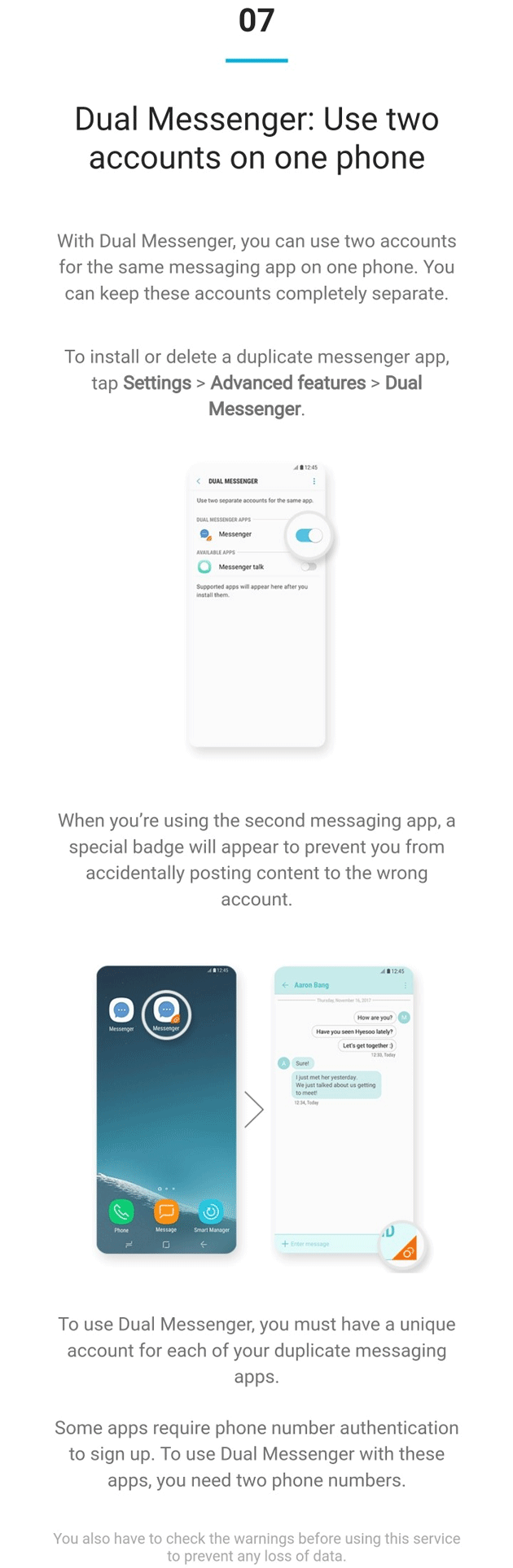 Samsung Experience 9.0 - Dual Messenger