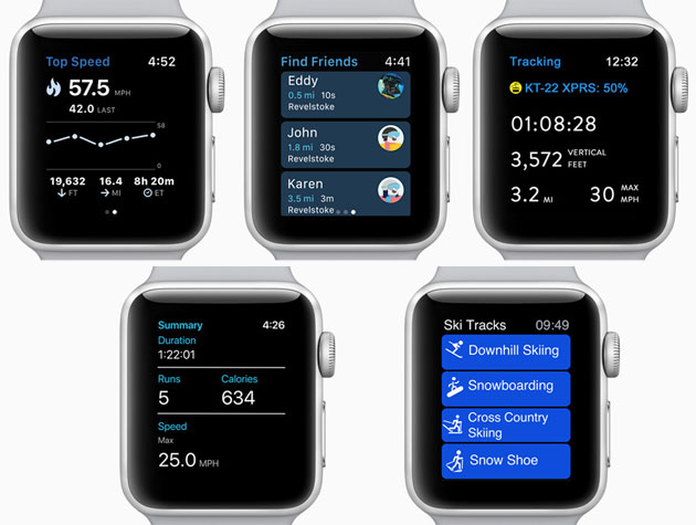 Apple Watch Series 3 - app per sciare