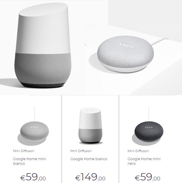 Google Home e Google Home Mini in Italia