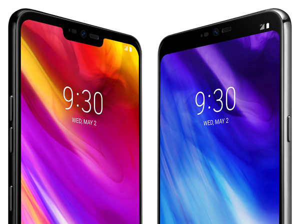 LG G7 ThinQ con e senza notch grazie alla opzione New Second Screen