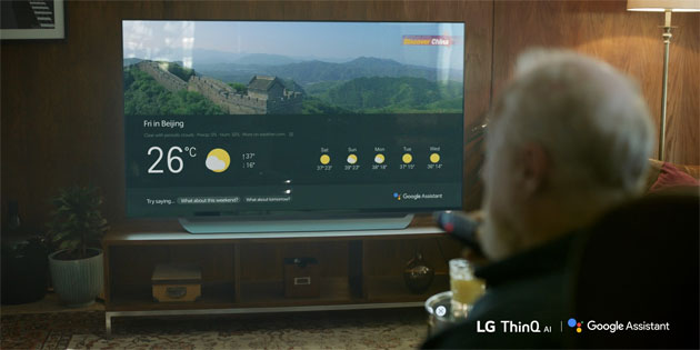 LG TV con Google Assistente