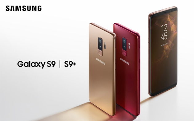 Samsung Galaxy S9 e S9+ in Sunrise Gold e Burgundy Red Editions