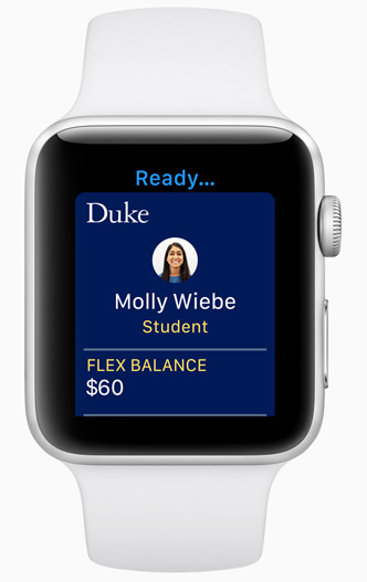 Apple watchOS 5 - Student ID Cards