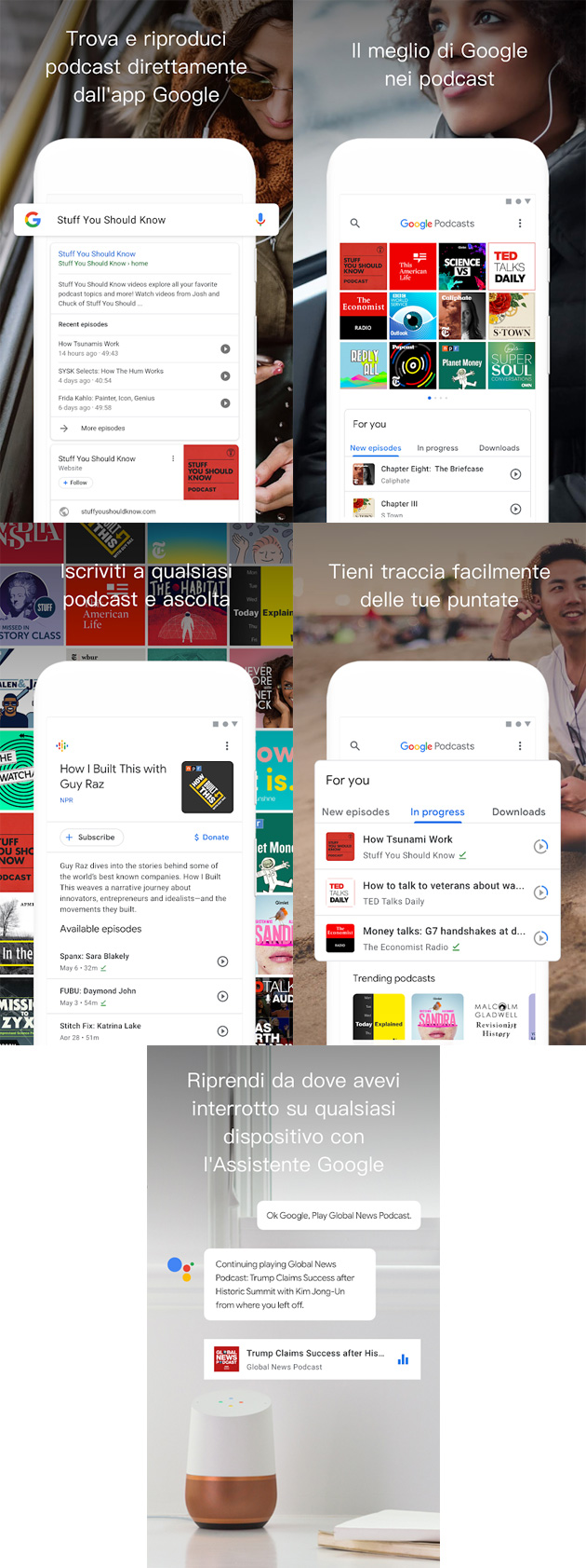 Google Podcast - anteprima app per Android